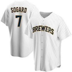 Eric Sogard Milwaukee Brewers Men's Replica Home Jersey - White