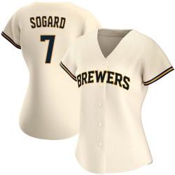 Eric Sogard Milwaukee Brewers Women's Authentic Home Jersey - Cream