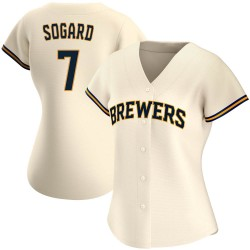 Eric Sogard Milwaukee Brewers Women's Replica Home Jersey - Cream