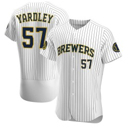 Eric Yardley Milwaukee Brewers Men's Authentic Alternate Jersey - White