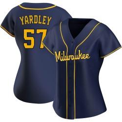 Eric Yardley Milwaukee Brewers Women's Replica Alternate Jersey - Navy