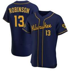 Glenn Robinson Milwaukee Brewers Men's Authentic Alternate Jersey - Navy