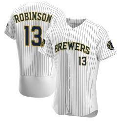 Glenn Robinson Milwaukee Brewers Men's Authentic Alternate Jersey - White