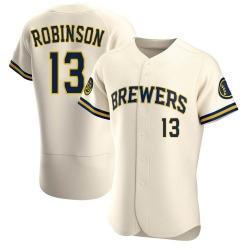Glenn Robinson Milwaukee Brewers Men's Authentic Home Jersey - Cream
