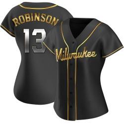 Glenn Robinson Milwaukee Brewers Women's Replica Alternate Jersey - Black Golden