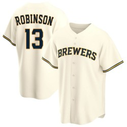 Glenn Robinson Milwaukee Brewers Youth Replica Home Jersey - Cream