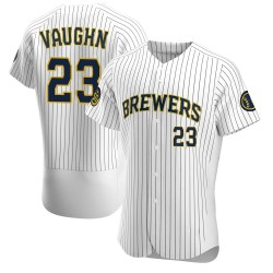 Greg Vaughn Milwaukee Brewers Men's Authentic Alternate Jersey - White