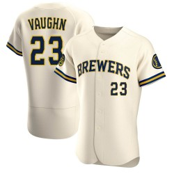 Greg Vaughn Milwaukee Brewers Men's Authentic Home Jersey - Cream