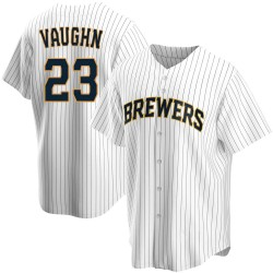 Greg Vaughn Milwaukee Brewers Youth Replica Home Jersey - White