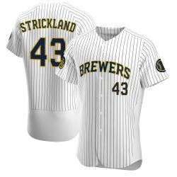 Hunter Strickland Milwaukee Brewers Men's Authentic Alternate Jersey - White