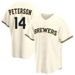 Jace Peterson Milwaukee Brewers Men's Replica Home Jersey - Cream