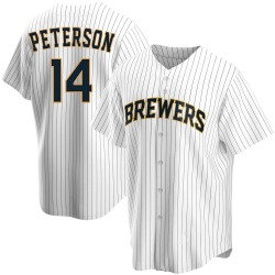 Jace Peterson Milwaukee Brewers Men's Replica Home Jersey - White