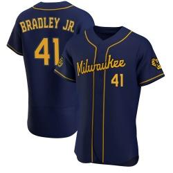 Jackie Bradley Jr. Milwaukee Brewers Men's Authentic Alternate Jersey - Navy
