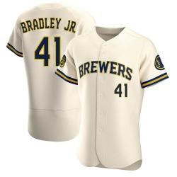 Jackie Bradley Jr. Milwaukee Brewers Men's Authentic Home Jersey - Cream