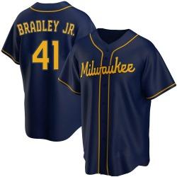 Jackie Bradley Jr. Milwaukee Brewers Men's Replica Alternate Jersey - Navy