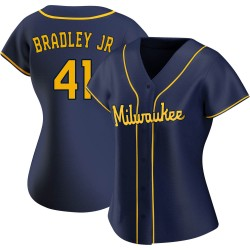 Jackie Bradley Jr. Milwaukee Brewers Women's Replica Alternate Jersey - Navy
