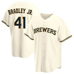 Jackie Bradley Jr. Milwaukee Brewers Youth Replica Home Jersey - Cream