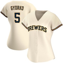 Jedd Gyorko Milwaukee Brewers Women's Replica Home Jersey - Cream