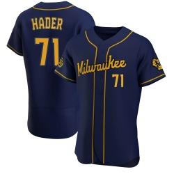 Josh Hader Milwaukee Brewers Men's Authentic Alternate Jersey - Navy