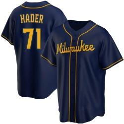Josh Hader Milwaukee Brewers Men's Replica Alternate Jersey - Navy