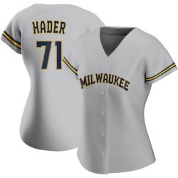 Josh Hader Milwaukee Brewers Women's Authentic Road Jersey - Gray