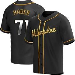 Josh Hader Milwaukee Brewers Youth Replica Alternate Jersey - Black Golden