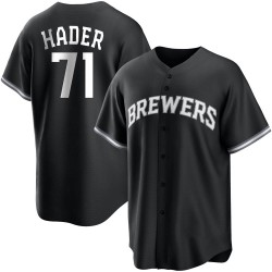 Josh Hader Milwaukee Brewers Youth Replica Black/ Jersey - White