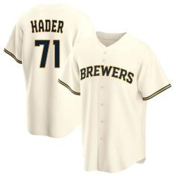 Josh Hader Milwaukee Brewers Youth Replica Home Jersey - Cream