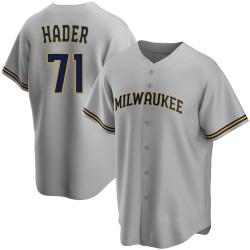 Josh Hader Milwaukee Brewers Youth Replica Road Jersey - Gray
