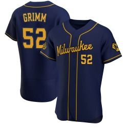 Justin Grimm Milwaukee Brewers Men's Authentic Alternate Jersey - Navy