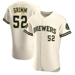 Justin Grimm Milwaukee Brewers Men's Authentic Home Jersey - Cream