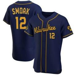 Justin Smoak Milwaukee Brewers Men's Authentic Alternate Jersey - Navy