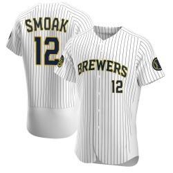 Justin Smoak Milwaukee Brewers Men's Authentic Alternate Jersey - White
