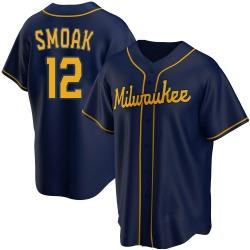 Justin Smoak Milwaukee Brewers Youth Replica Alternate Jersey - Navy