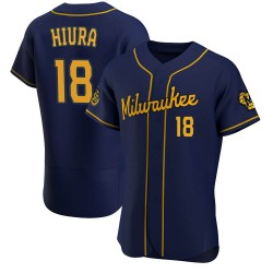 Keston Hiura Milwaukee Brewers Men's Authentic Alternate Jersey - Navy