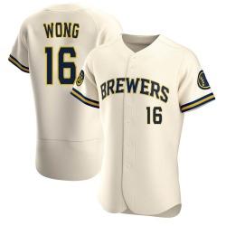 Kolten Wong Milwaukee Brewers Men's Authentic Home Jersey - Cream