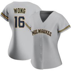Kolten Wong Milwaukee Brewers Women's Replica Road Jersey - Gray
