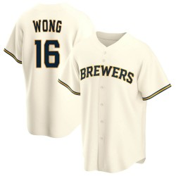 Kolten Wong Milwaukee Brewers Youth Replica Home Jersey - Cream