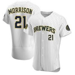 Logan Morrison Milwaukee Brewers Men's Authentic Alternate Jersey - White