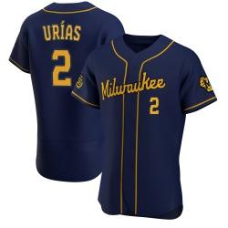 Luis Urias Milwaukee Brewers Men's Authentic Alternate Jersey - Navy