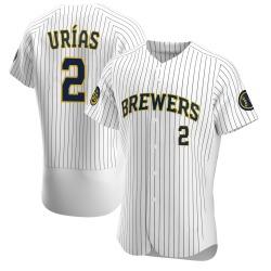 Luis Urias Milwaukee Brewers Men's Authentic Alternate Jersey - White