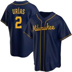 Luis Urias Milwaukee Brewers Men's Replica Alternate Jersey - Navy