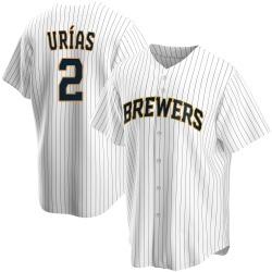 Luis Urias Milwaukee Brewers Youth Replica Home Jersey - White
