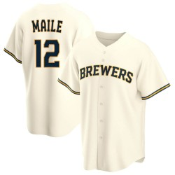 Luke Maile Milwaukee Brewers Men's Replica Home Jersey - Cream