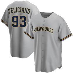 Mario Feliciano Milwaukee Brewers Men's Replica Road Jersey - Gray