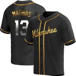 Mark Mathias Milwaukee Brewers Youth Replica Alternate Jersey - Black Golden