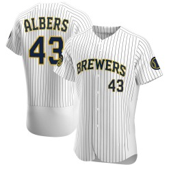 Matt Albers Milwaukee Brewers Men's Authentic Alternate Jersey - White