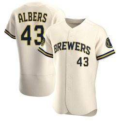 Matt Albers Milwaukee Brewers Men's Authentic Home Jersey - Cream