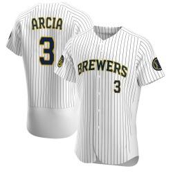 Orlando Arcia Milwaukee Brewers Men's Authentic Alternate Jersey - White