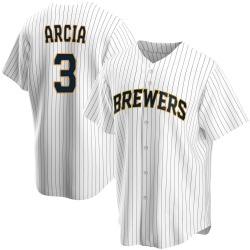 Orlando Arcia Milwaukee Brewers Youth Replica Home Jersey - White